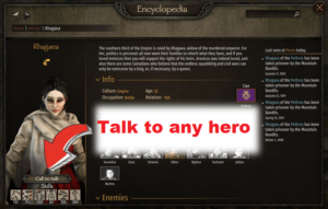 Telepathy Talk to any hero from encyclopedia MB2 Bannerlord mod Telepathy (Talk to any hero from encyclopedia)